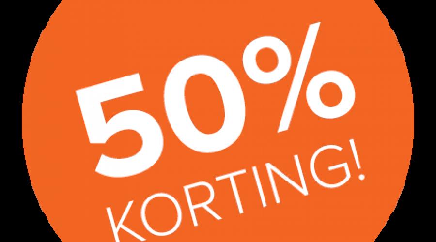 50% kennismakingskorting op de voorrijkosten